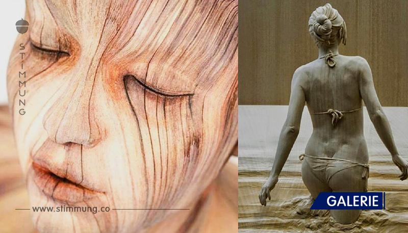 Luxuriöse Skulpturen aus Holz, die mit ihrem Realismus begeistern. Das ist Magie!