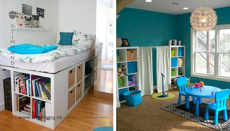 ein ikea kallax expedit darf im kinderzimmer nicht fehlen 9 ikea kallax kids hacks. Black Bedroom Furniture Sets. Home Design Ideas