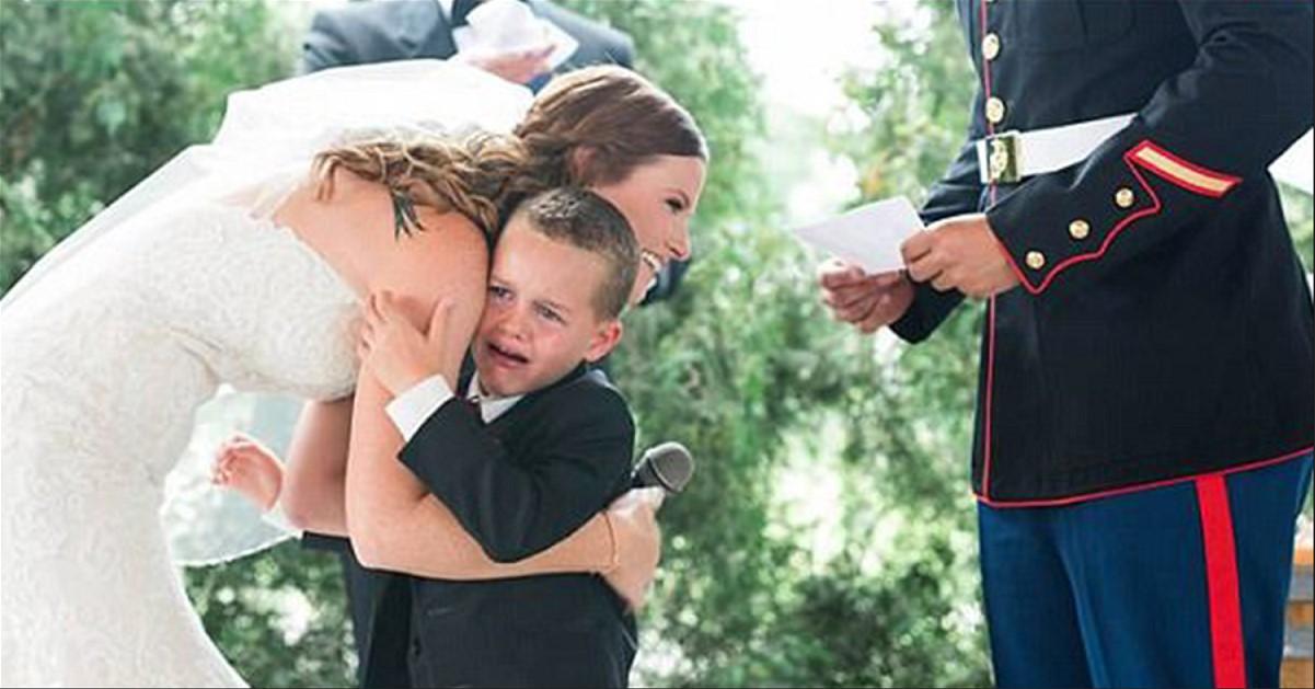 Die berührendste Rede der Braut bei der Hochzeit: Der Junge brach in Tränen aus, als sich die Stiefmutter persönlich an ihn wandte ...