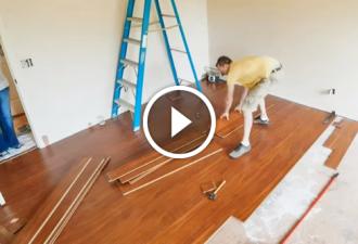 Während seine Frau nicht zu Hause war, beschloss er, die Wohnung zu renovieren. Schau dir nur die Reaktion der Frau an!