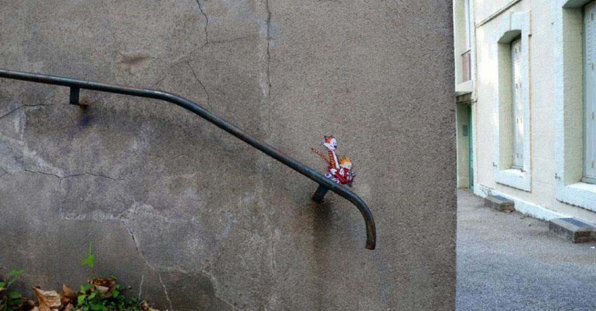 20 Straßenkunstwerke, die wie Teile der Welt aussehen.
