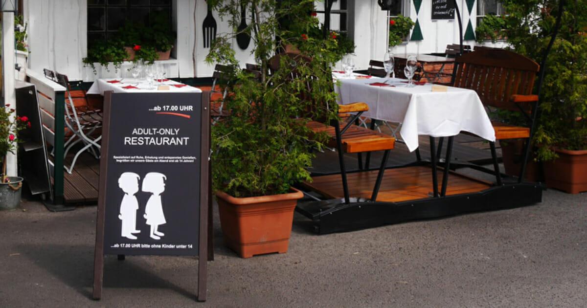 Kinder verboten: Wirt lässt Kinder wegen schlechter Erziehung nicht mehr ins Restaurant