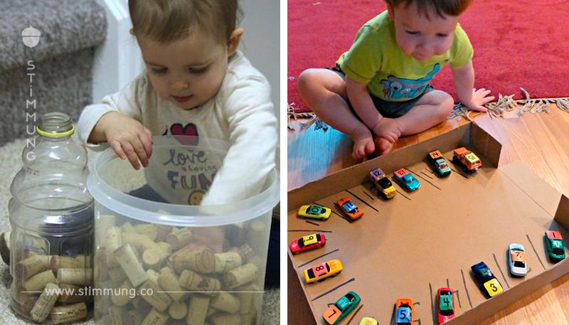 Langweilt sich Ihr Kind? Schauen Sie sich hier die tollsten DIY Spiele und Aktivitäten für Kleinkinder an!