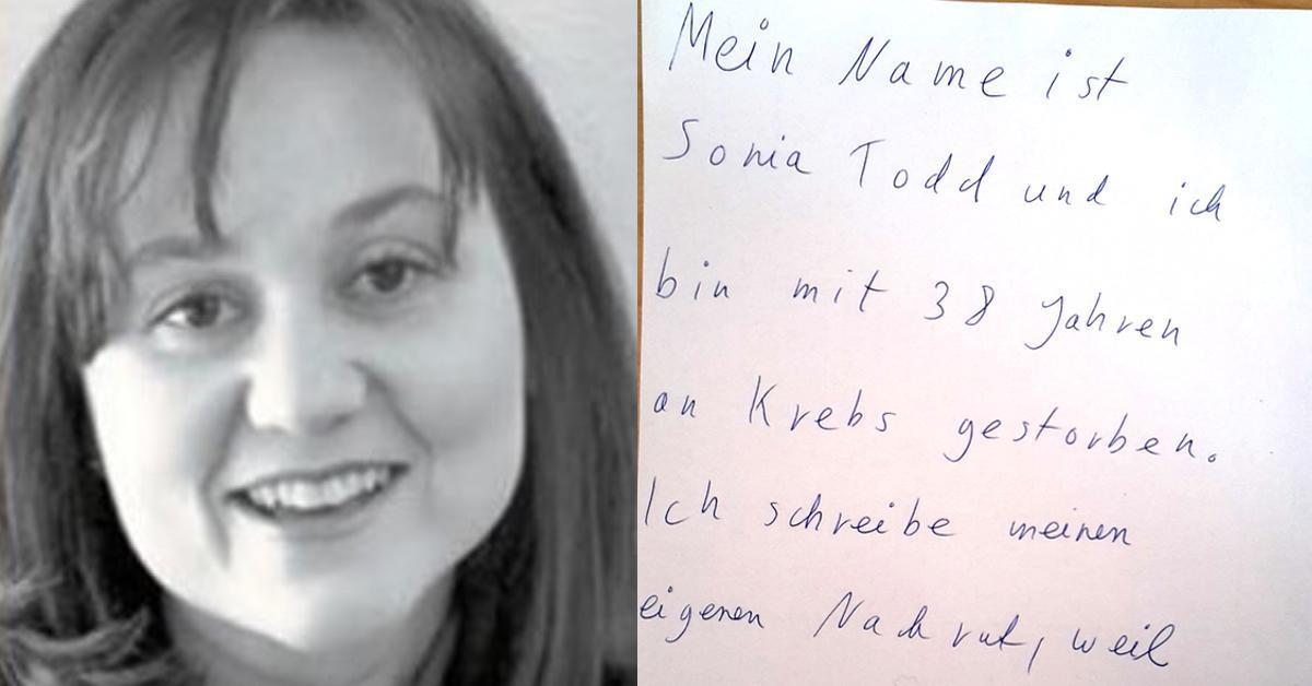 Mutter schreibt eigenen Nachruf mit emotionaler Botschaft.