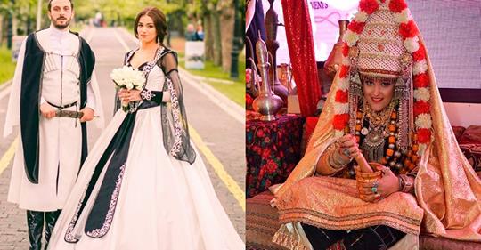 Die schönsten und ungewöhnlichsten traditionellen Hochzeitskleider der verschiedenen Länder der Welt. Es ist fantastisch!