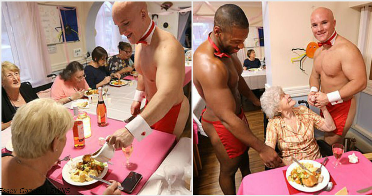 Frauen aus dem Pflegeheim wurden von den nackten hübschen Männern gratuliert! So war es