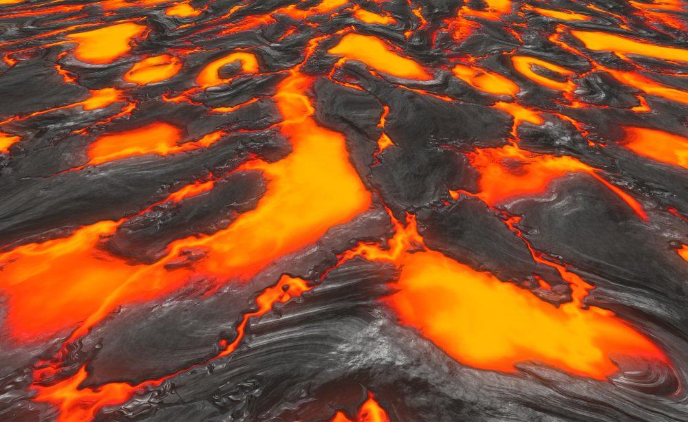 Welche Temperatur kann Lava erreichen?
