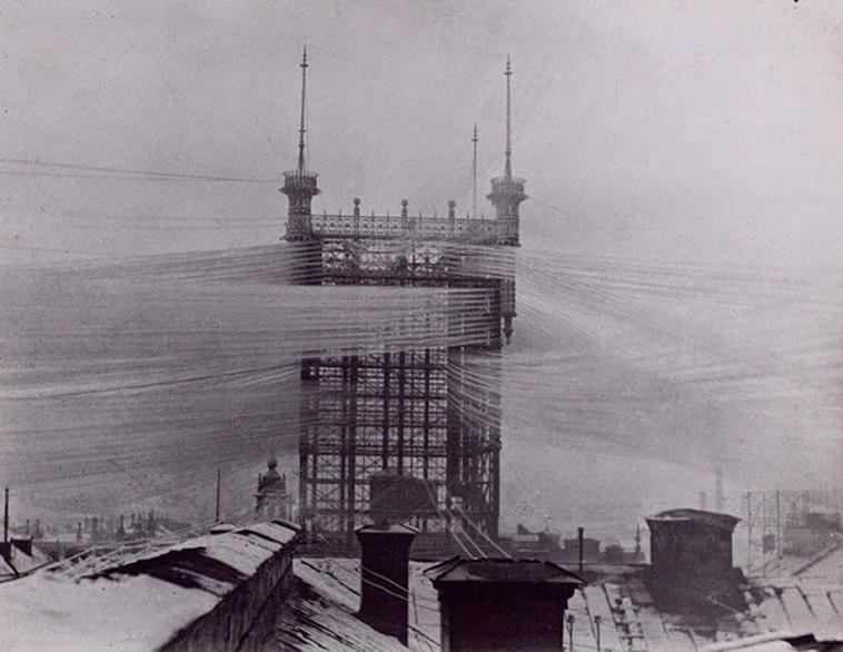 Der stockholmer Telefonturm, der 5500 Linien verbindete