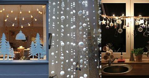Zeigen Sie der Außenwelt, wie gemütlich Ihr Haus von innen ist mit diesen 9 winterlichen DIY-Ideen für Fensterdekorationen!