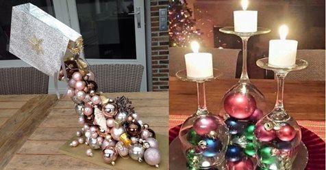 Weihnachtskugeln gehören eigentlich in den Baum… aber für diese 9 Dekorationsideen brauchen Sie keinen!