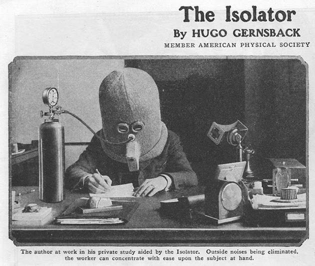 Helm vom Jahr 1920 zur Steigerung der Konzentration