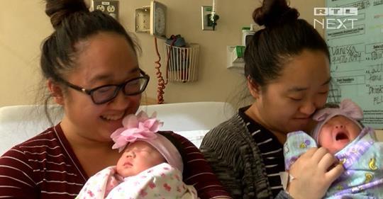 Kalifornien: Zwillingsschwestern bringen Babys am gleichen Tag zur Welt
