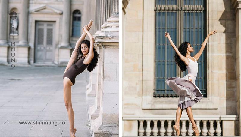 Die Anmut und Zärtlichkeit dieser Ballerina ist so beeindruckend. Sie ist einfach wunderschön.