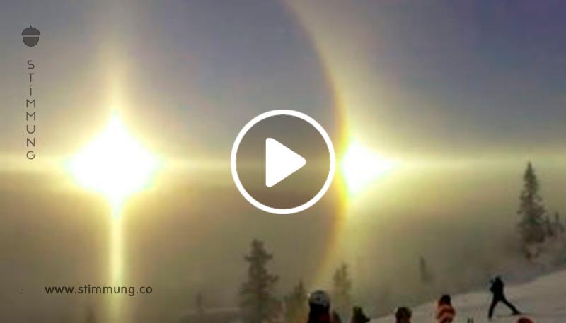 Die Touristen haben plötzlich vergessen, warum sie gekommen sind, als sie dieses Phänomen am Himmel in den Bergen gesehen haben!