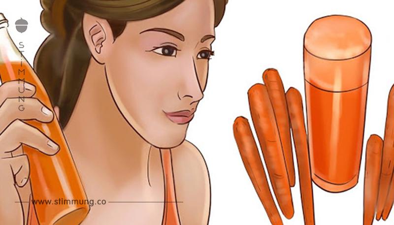 Jeden Morgen für 8 Monate trank sie Karottensaft und dann geschah etwas Unglaubliches!