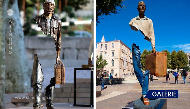 ,,Geister Skulpturen,, Les Voyageurs von Bruno Catalano