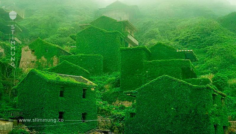 Verlassenes chinesisches Dorf Hutuwan