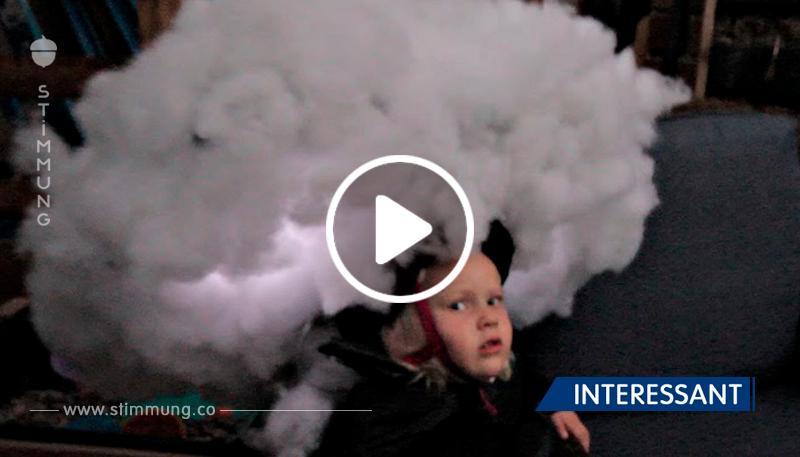 Papa verwandelte sein Kind in eine Gewitterwolke