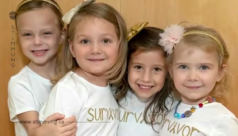 4 Mädchen besiegen Krebs im selben Krankenhaus – hier das unglaubliche Foto ihres Wiedersehens