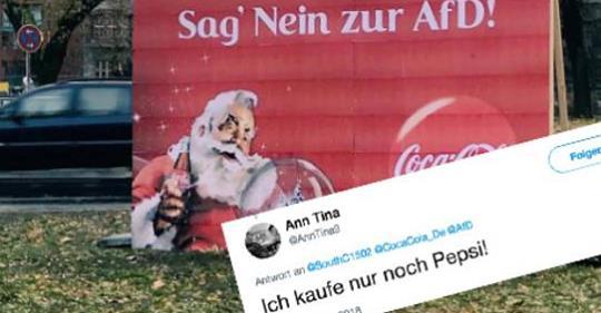 Sehr erbärmlich – AfD ruft zum Boykott gegen Coca Cola auf