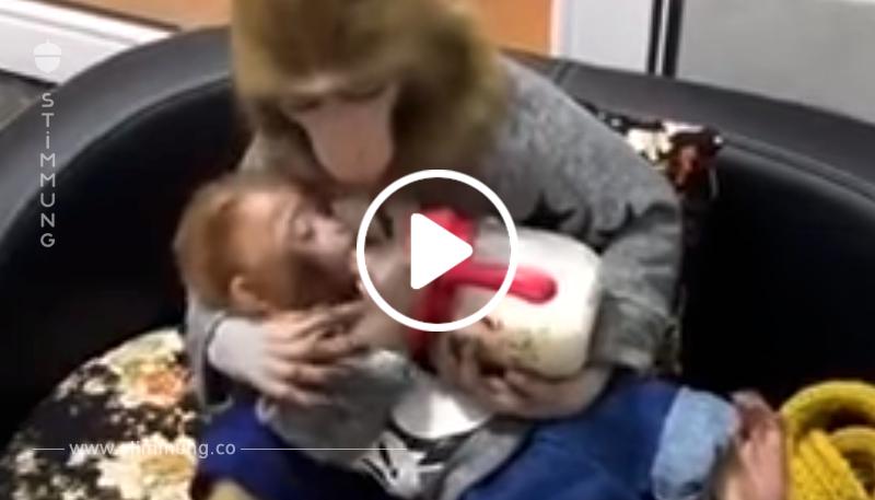 «Mein Gott, ich glaube meinen Augen nicht!» - Sie schrieben Kommentare auf YouTube, nachdem sie das Video gesehen hatten! «Sie füttert ihn und küsst ihn immer wieder!»