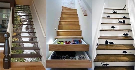 13 großartige DIY-Ideen, um Ihre Treppe umzuwandeln!