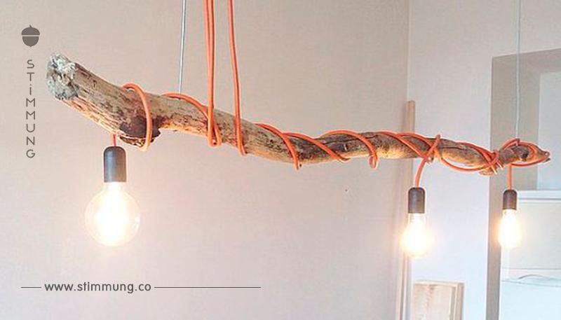 Sammeln Sie schöne Äste im Wald und benutzen Sie sie im Haus mit diesen 17 DIY-Ideen.