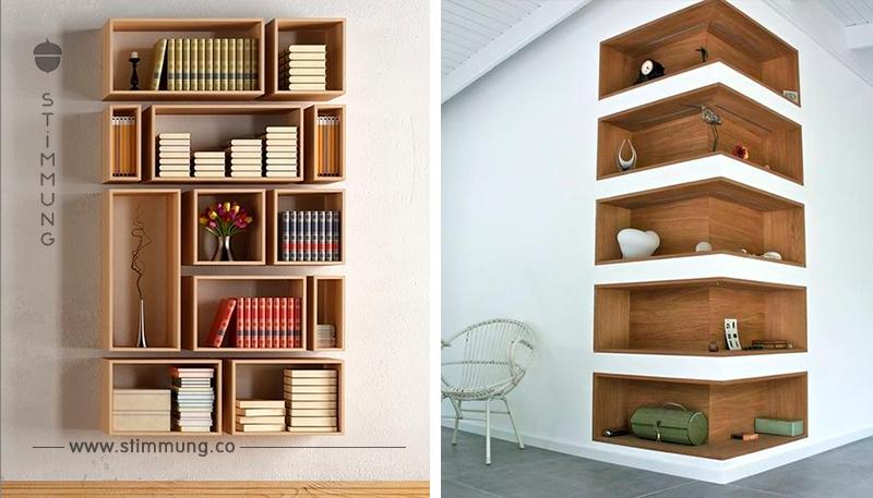 Schwebende Bücherbretter sind voll im Trend! Entdecken Sie hier ein paar wunderschöne Inspirationsbeispiele