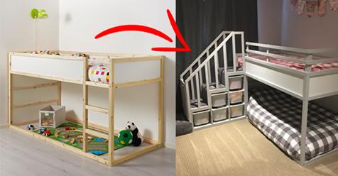 Die coolsten DIY-Betten aus IKEA-Möbeln für jung & alt! Nummer 7 ist wirklich FANTASTISCH gemacht!