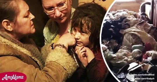 5 jähriges Mädchen aus Wohnung voller Schmutz und Insekten gerettet, kann nicht einmal sprechen