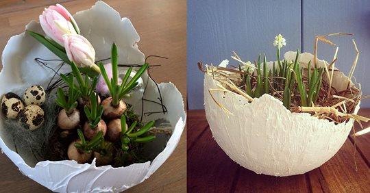 Der NEUESTE Trend nach den Balloneiern aus Wolle…….. Eier, die mit Instant-Spachtel gebastelt werden können!