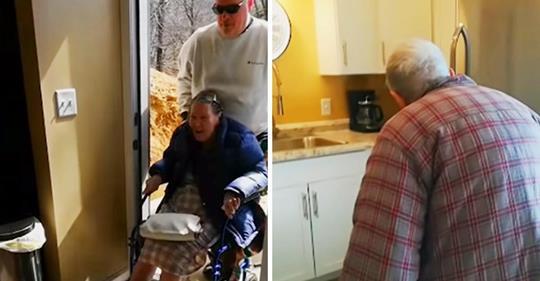 Älteres Paar finden heraus, dass ihr Sohn seinen Hobbyraum in seinem Keller zu einer kleinen Wohnung für sie umgebaut hat