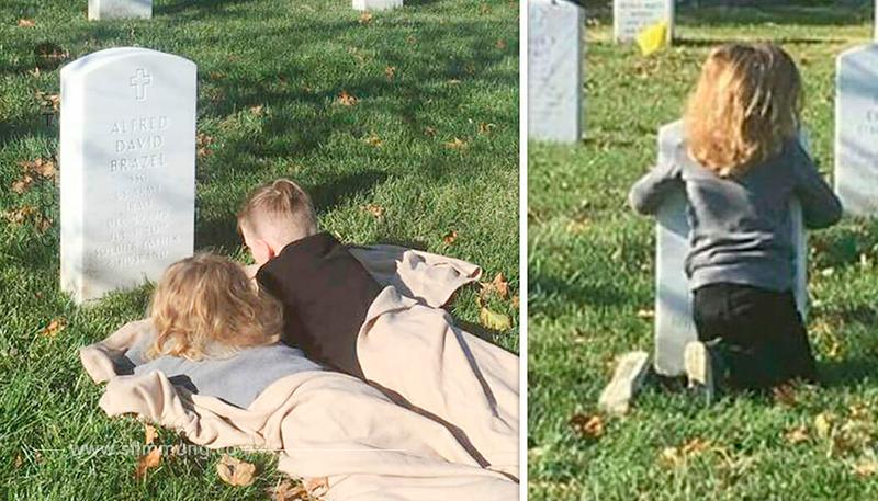 Söhne wollen ein Zeichen von Papa im Himmel – was an seinem Grab geschieht, lässt alle in Tränen ausbrechen
