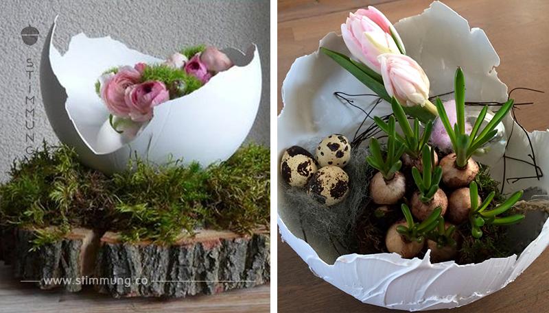 Der NEUESTE Trend nach den Balloneiern aus Wolle…….. Eier, die mit Instant Spachtel gebastelt werden können!