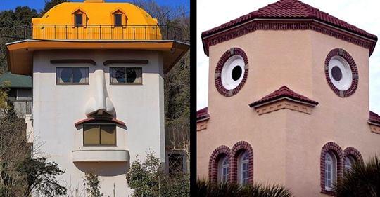 Spaß mit Architektur: 25 Bilder von Häusern, die ein Gesicht haben.
