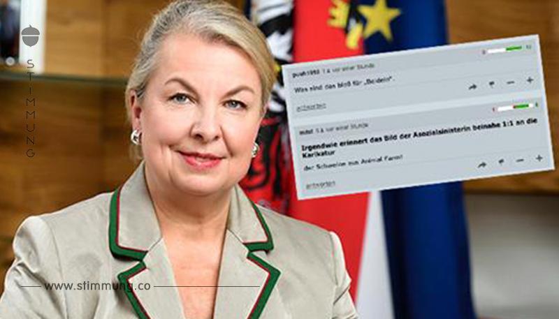 """Wüste Beschimpfungen gegen Sozialministerin im """"Standard"""" Forum"""
