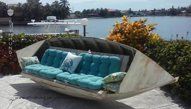Im Sommer möchten Sie im Garten sitzen? Das kann mit diesen 12 selbstgemachten Gartenmöbeln!