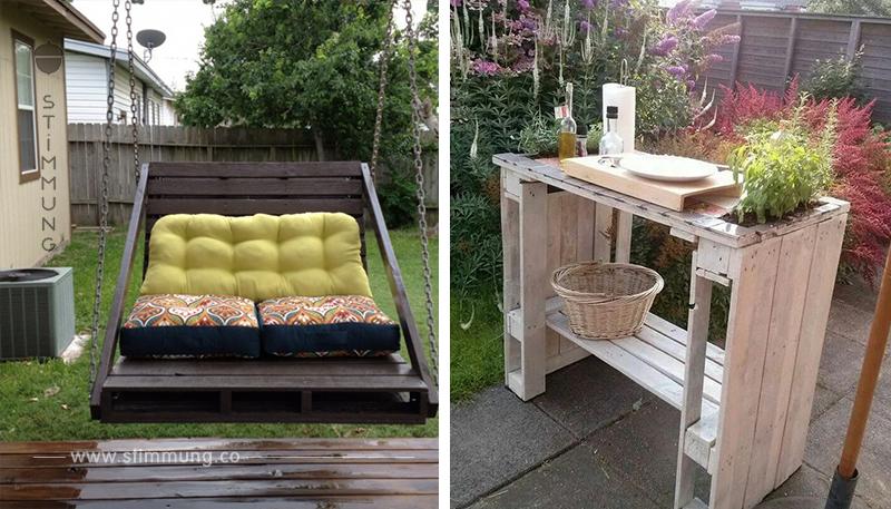 Gartenmöbel kaufen? Aber nicht doch! 15 Bastelideen für Gartenmöbel aus Holzpaletten!