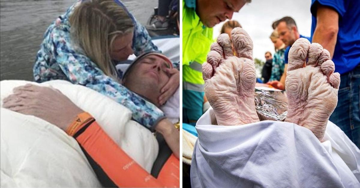 Kampf gegen Krebs: Mann verbringt 55 Stunden im Wasser.