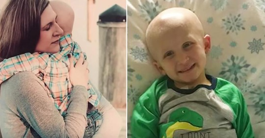 4 jähriger mit Krebs sagt seiner Mutter, dass er im Himmel auf sie warten wird kurz bevor er in ihren Armen stirbt