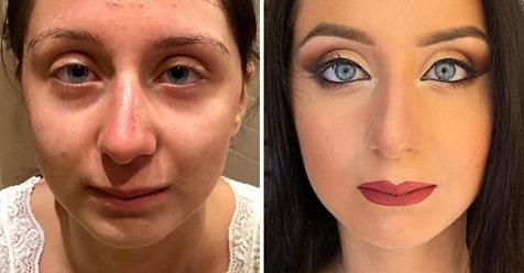 16 Frauen, die sich durch Schminke verändert haben