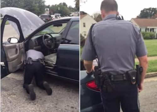 Polizist bittet Frau den Kofferraum zu öffnen - er weiß nicht, dass sie ihn dabei heimlich filmt