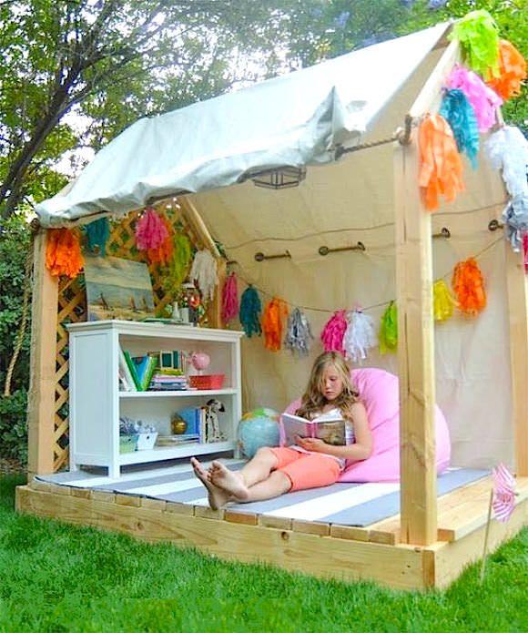 10 großartige Gartenhäuser, die jedes Kind wohl allzu gern haben möchte.