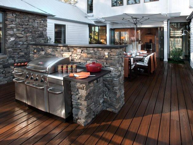 Träumen Sie von einer Außenküche? Wählen Sie einer dieser herrlichen Küchen in der freien Natur!
