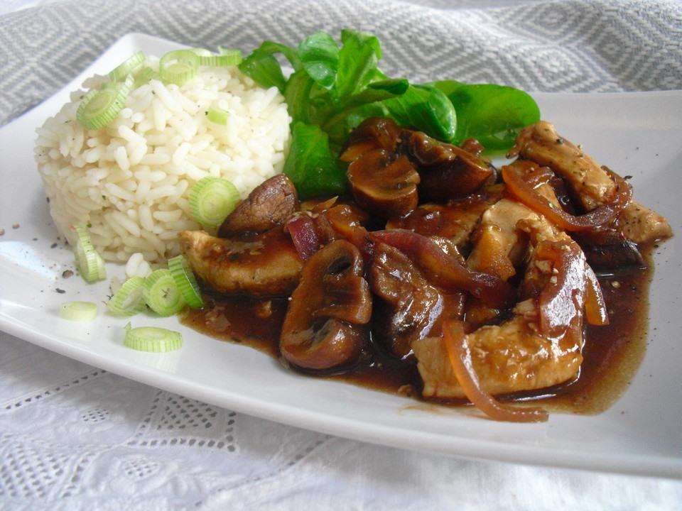 Hähnchen-Geschnetzeltes mit Balsamico