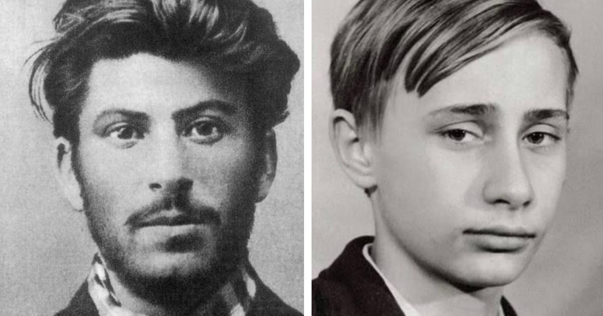 14 Weltpolitiker in jungen Jahren.