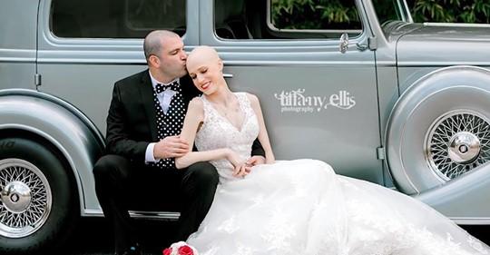 Braut mit Stadium IV Brustkrebs verstorben