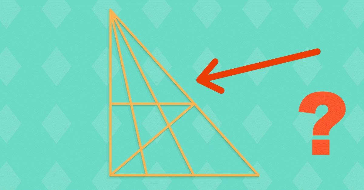 Errätst du in 20 Sekunden, wie viele Dreiecke sich in dem Bild verstecken?
