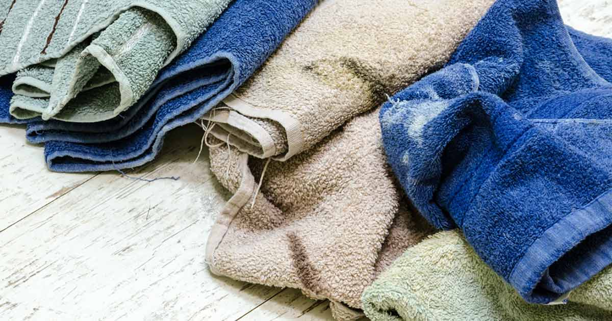 5 Dinge, die du niemals mit deinen Handtüchern machen solltest