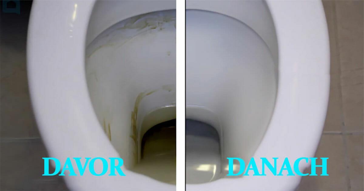 Mit diesem einfachen und billigen Trick wird die Toilette wieder blitzeblank – Ergebnis sieht man sofort
